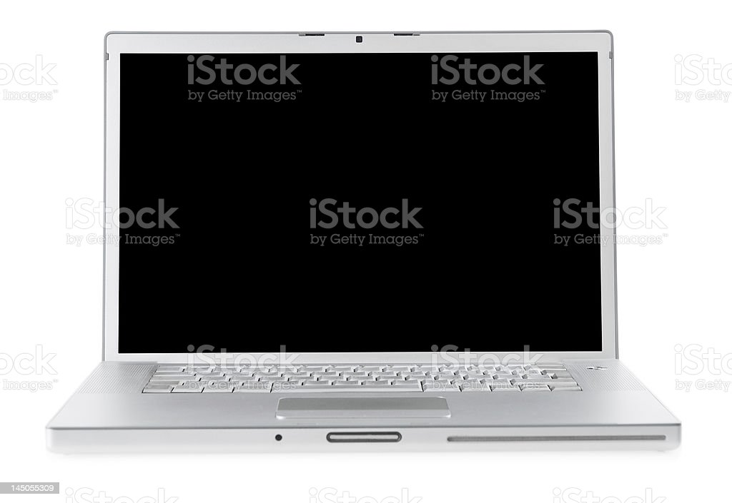 Laptop isolated royalty-free stock photo