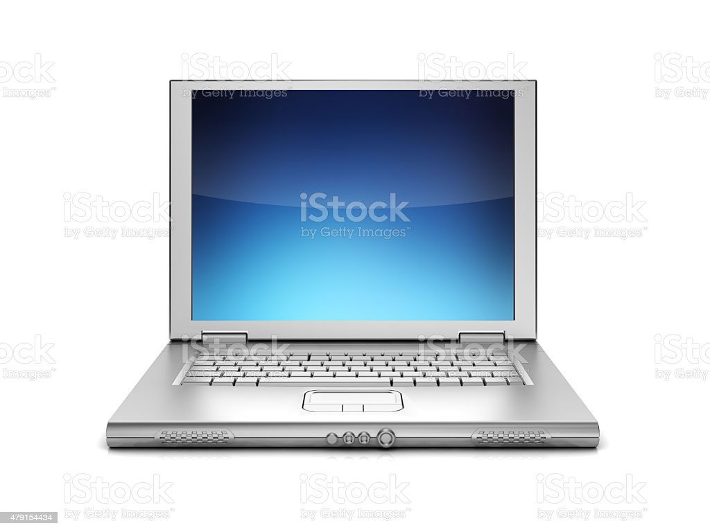 laptop isolated stock photo