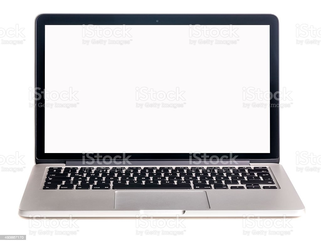 Laptop isolated stock photo