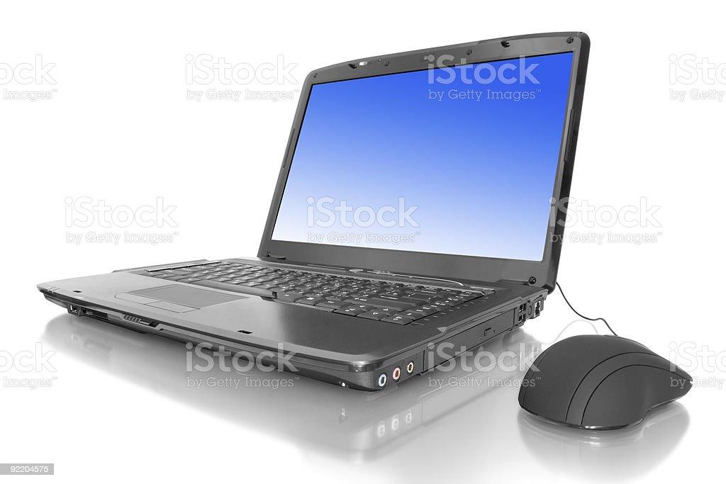 laptop isolated royalty-free stock photo