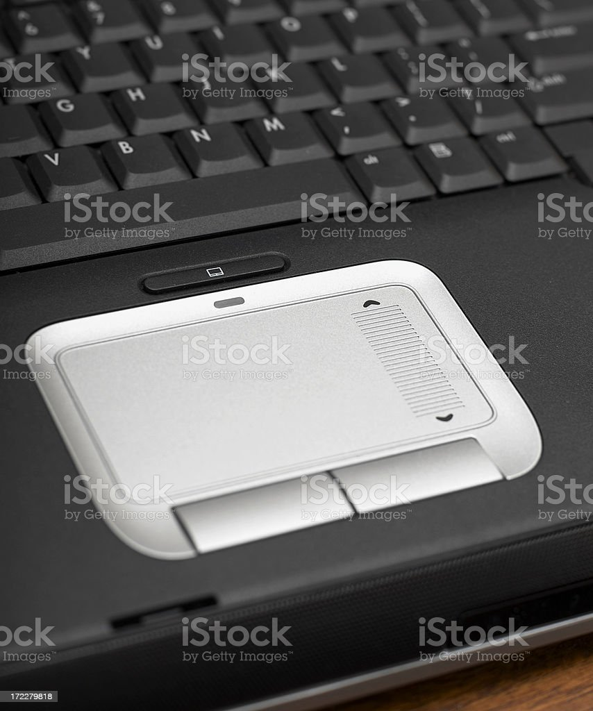 Laptop Keyboard and Touch Mouse Pad stock photo