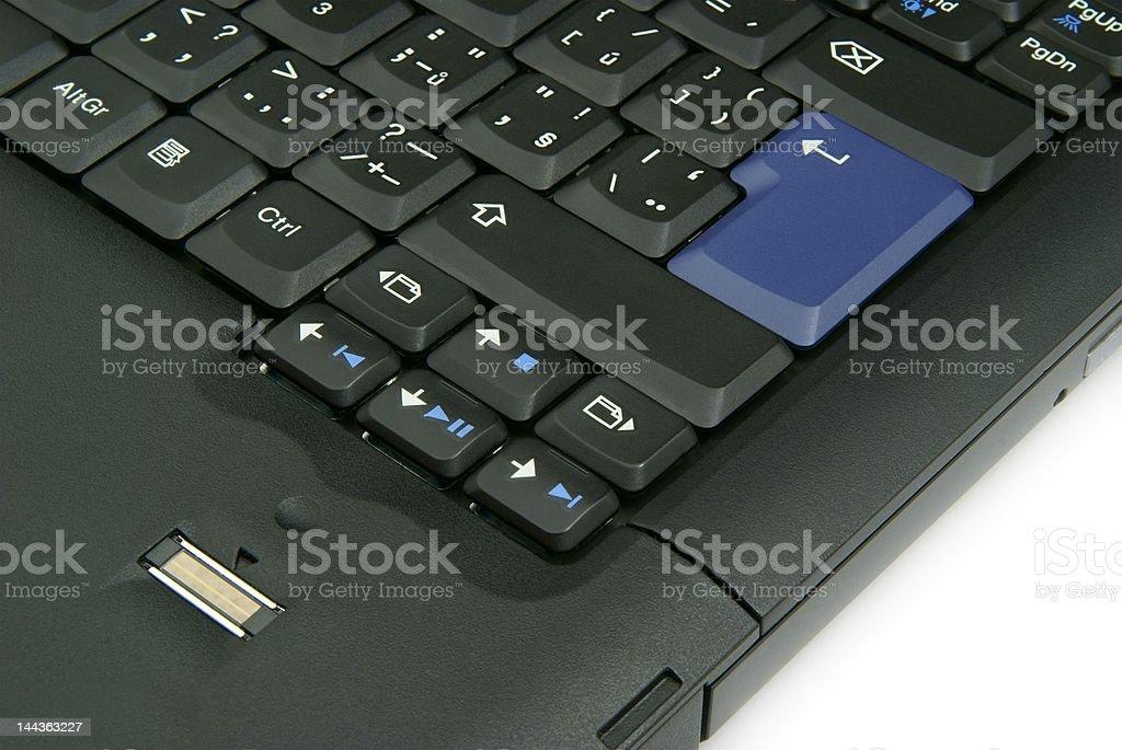 Laptop Keyboard Detail royalty-free stock photo