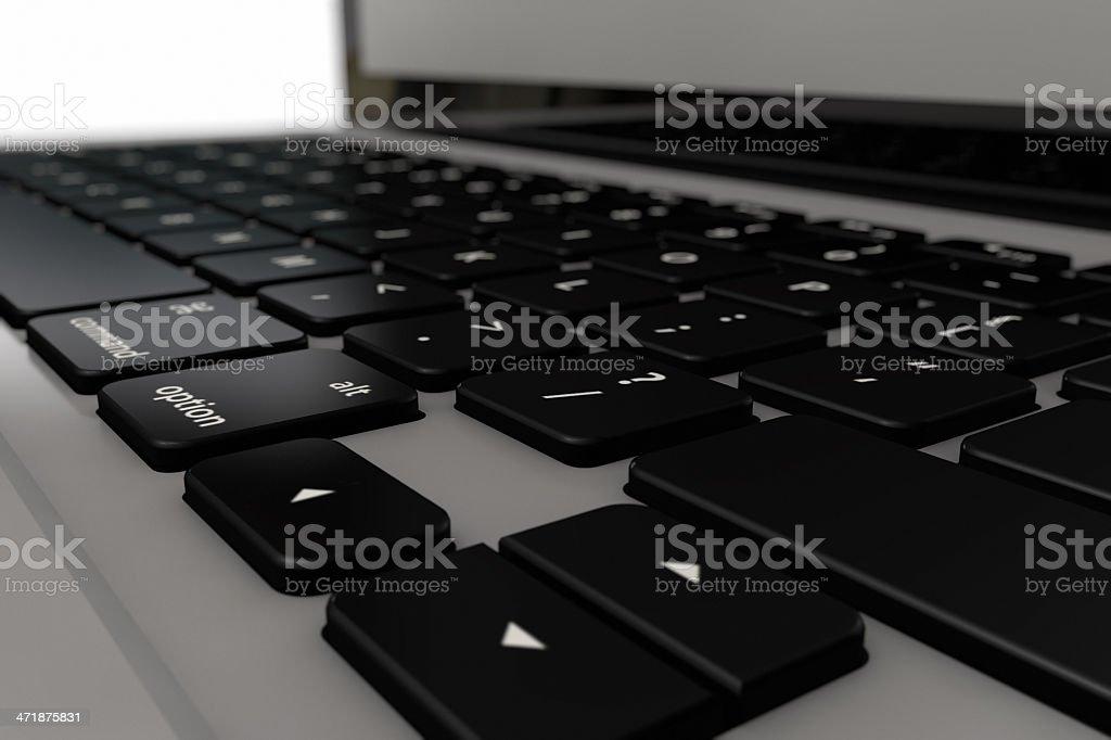 Laptop-Tastatur Lizenzfreies stock-foto