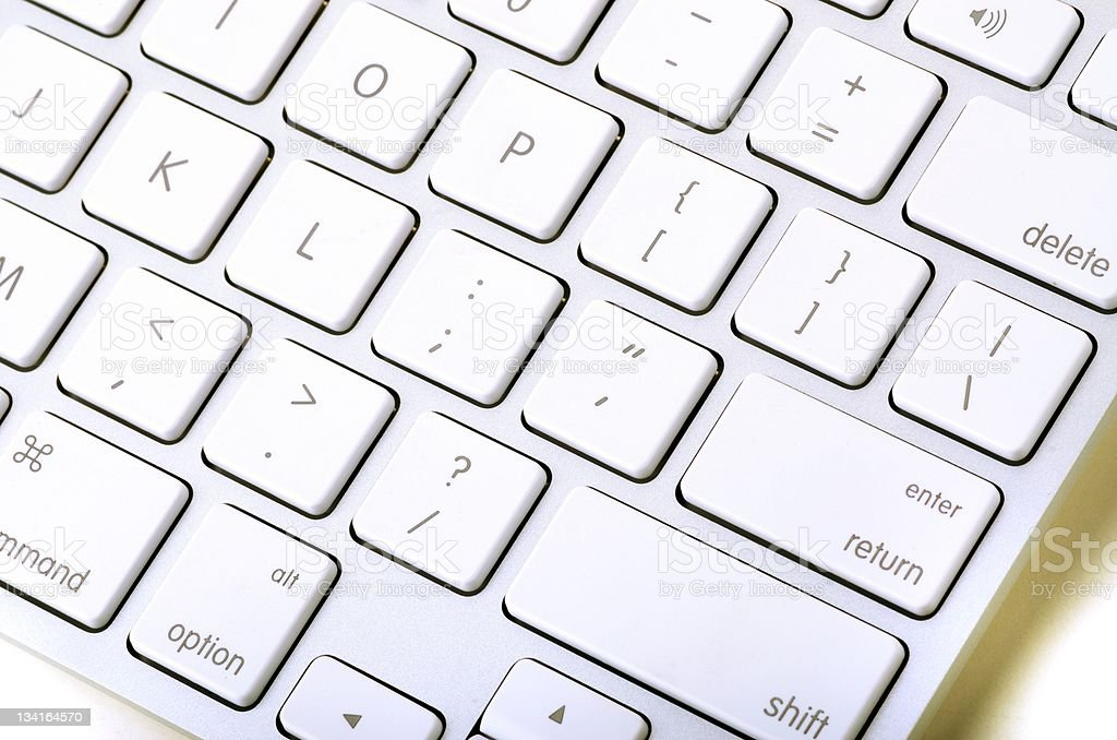 Laptop keyboard with clipping path stock photo
