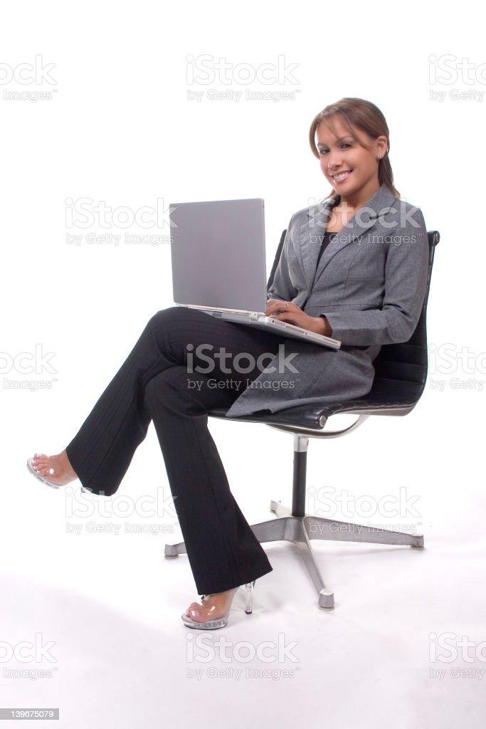 Laptop Lady stock photo
