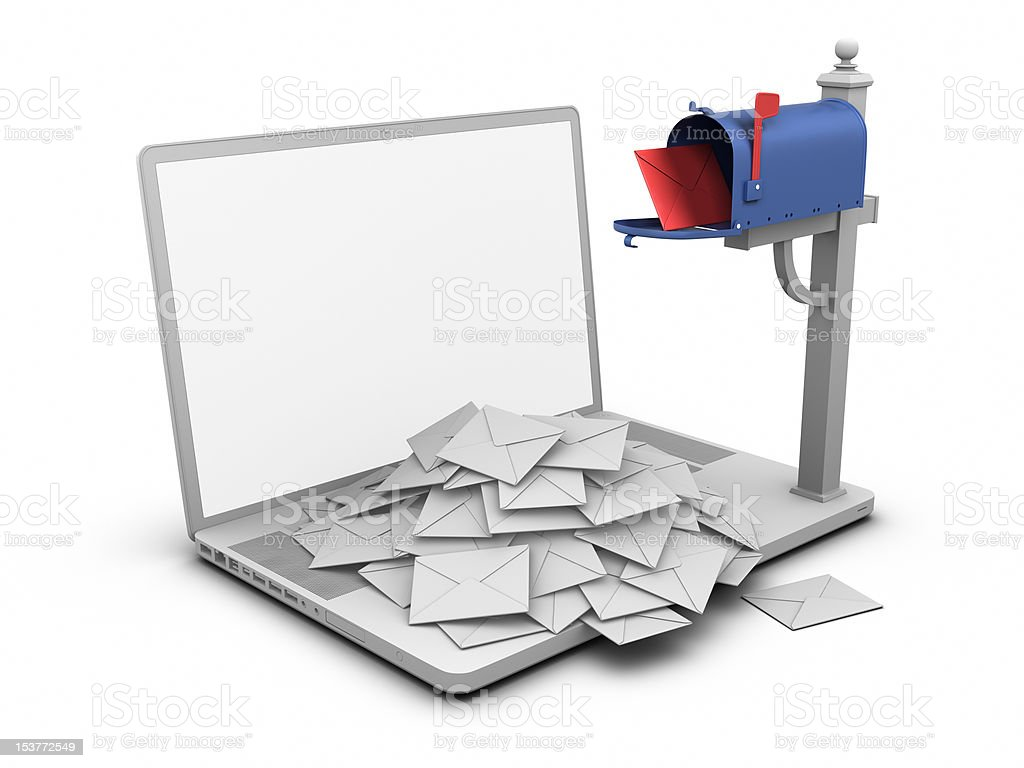 Laptop - Mailbox royalty-free stock photo