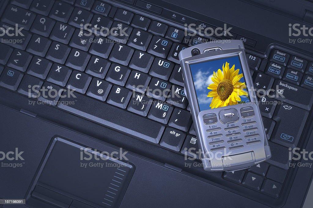 Laptop & mobile phone royalty-free stock photo