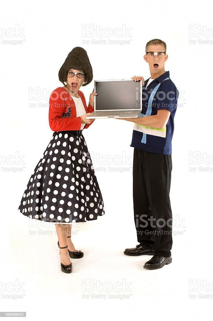 Laptop Nerds royalty-free stock photo