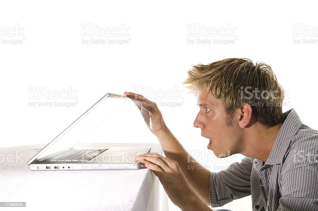 Laptop peeks royalty-free stock photo