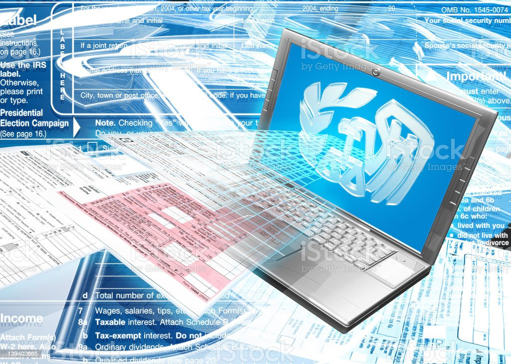 IRS Laptop royalty-free stock photo