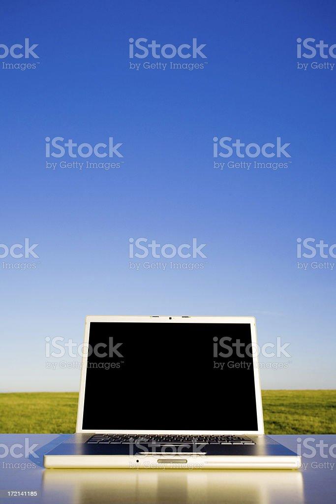 Laptop portrait stock photo