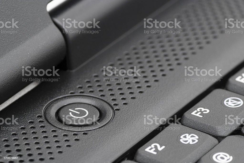 Laptop power button royalty-free stock photo