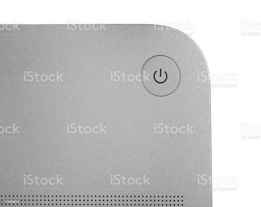 Laptop Power Button (Clipping Path) royalty-free stock photo