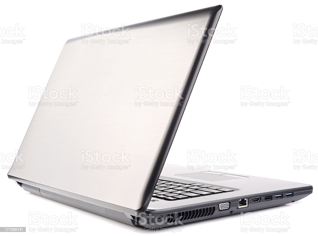 Laptop rear isometric view royalty-free stock photo