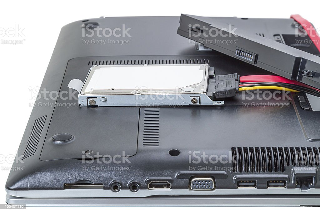 Laptop repair royalty-free stock photo