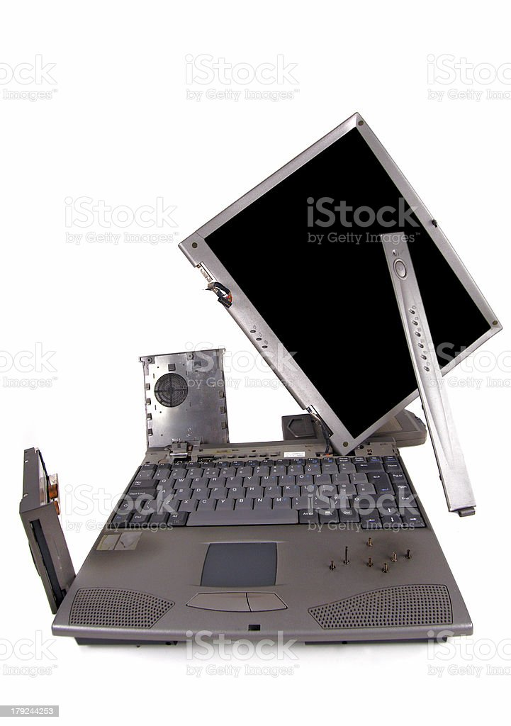 laptop RIP royalty-free stock photo