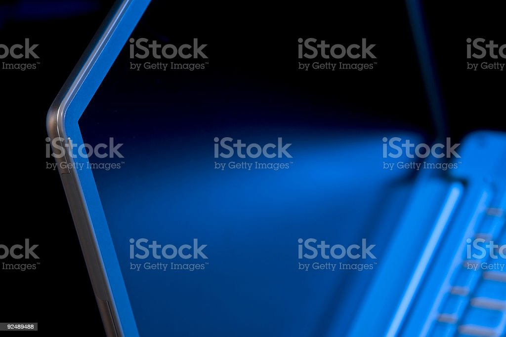 Laptop screen and keyboard royalty-free stock photo