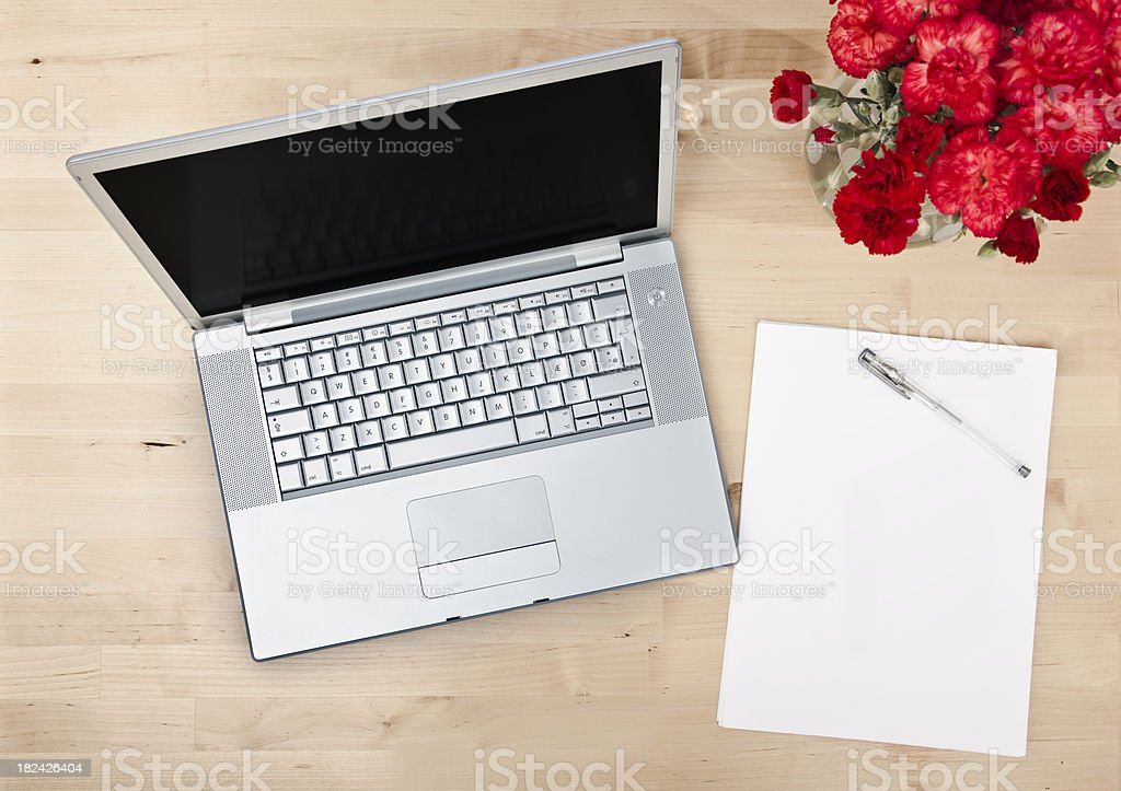 Laptop seen from above royalty-free stock photo