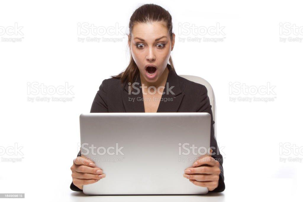 Laptop shock royalty-free stock photo