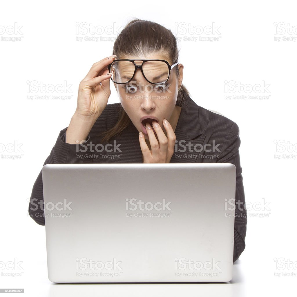 Laptop shock stock photo