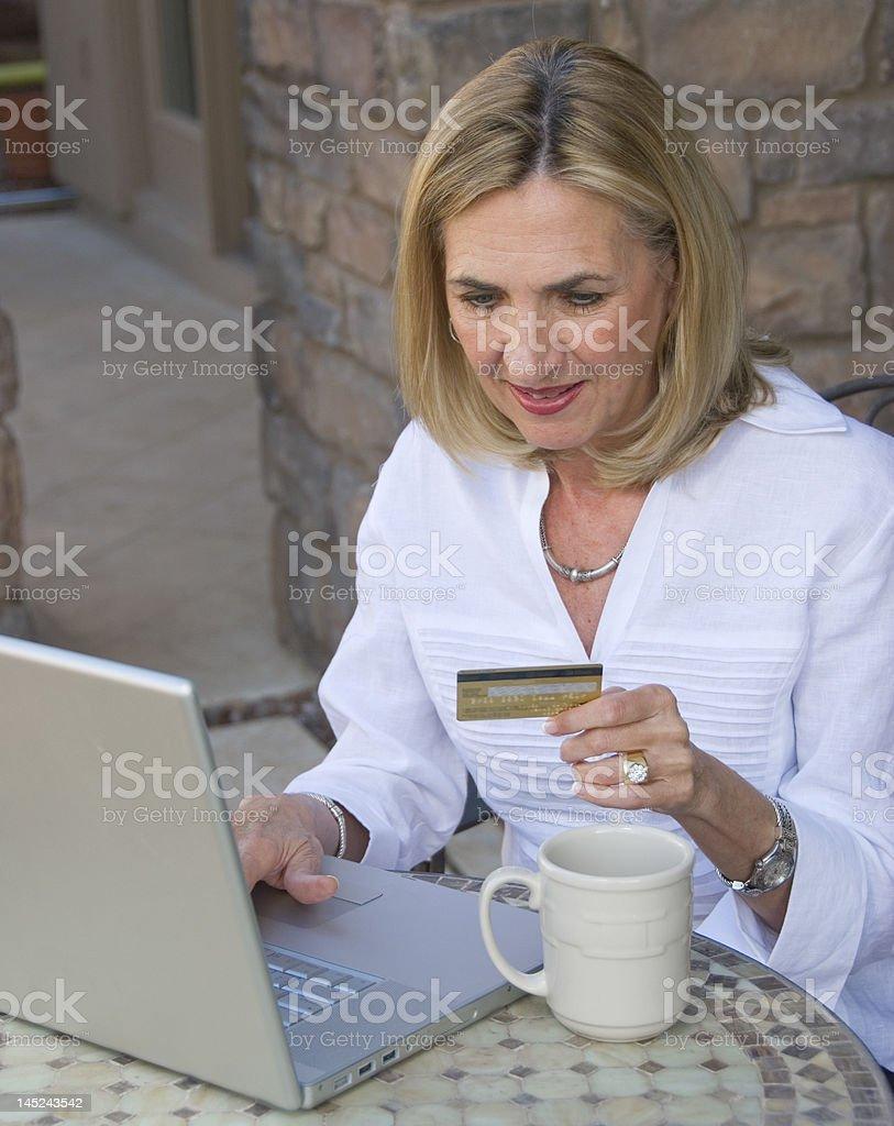 laptop shopping royalty-free stock photo