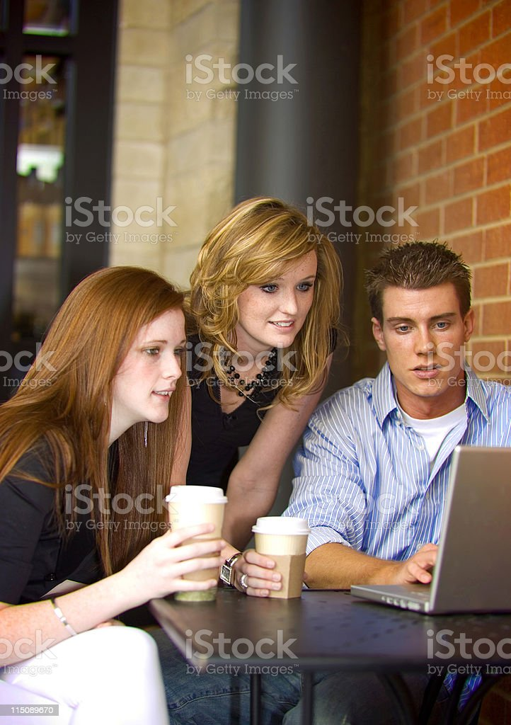 laptop students women young adult male royalty-free stock photo