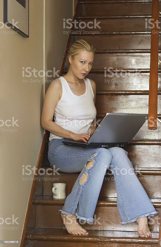 Laptop time royalty-free stock photo