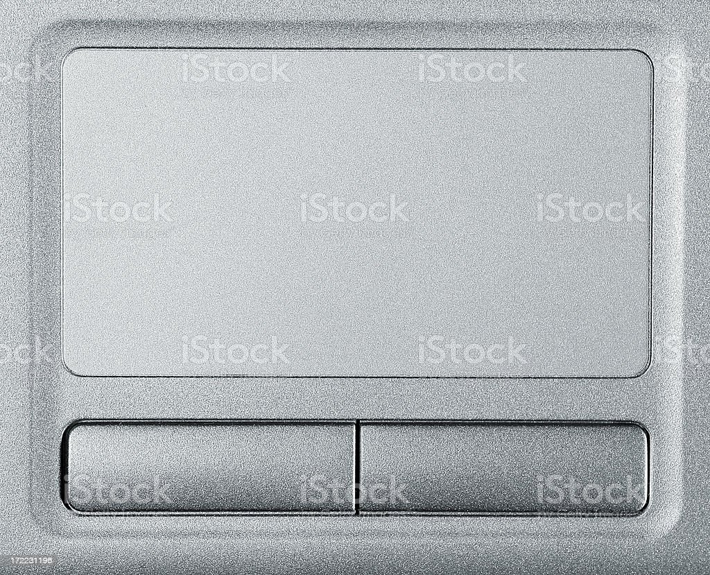 Laptop TouchPad with copyspace stock photo