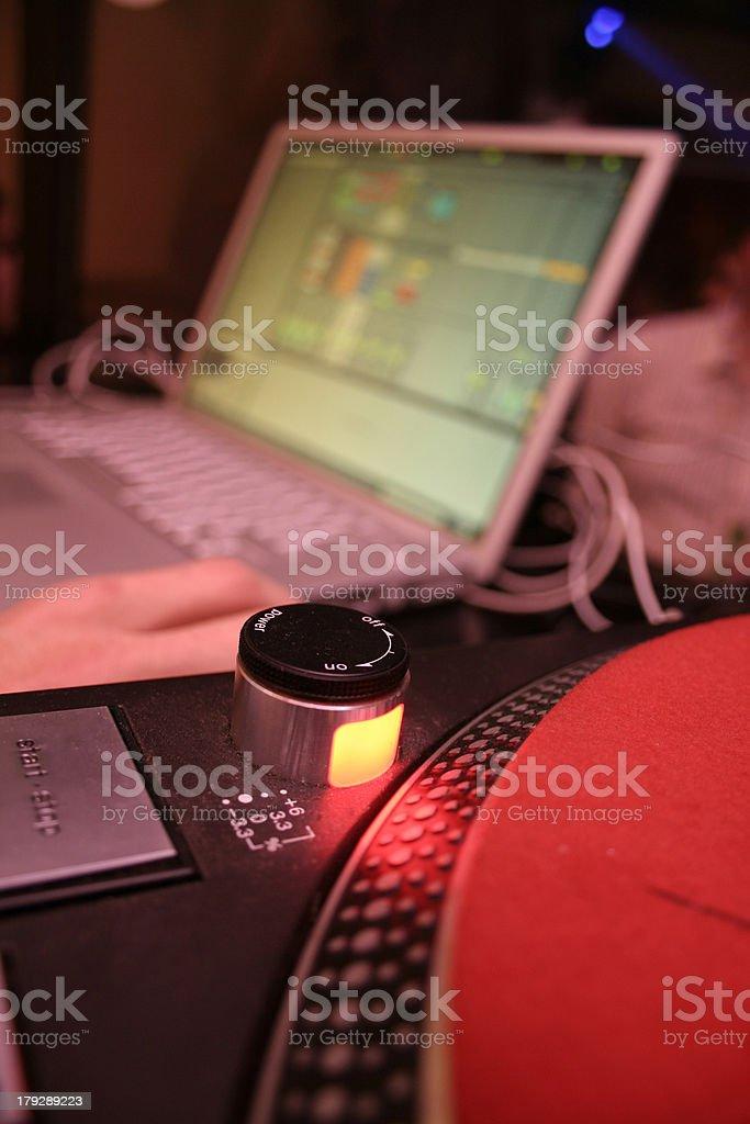 Laptop & Turntable royalty-free stock photo