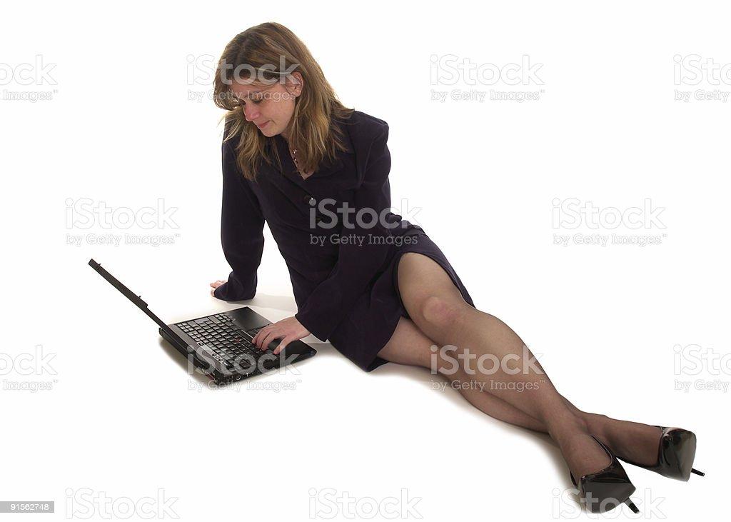 laptop user royalty-free stock photo