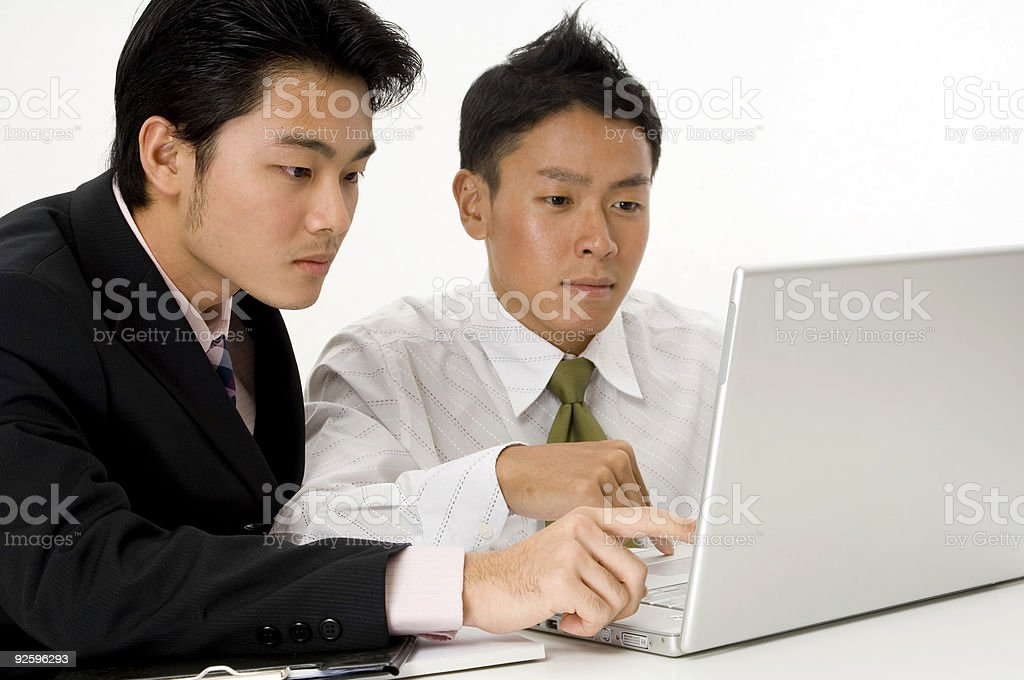 Laptop Users royalty-free stock photo
