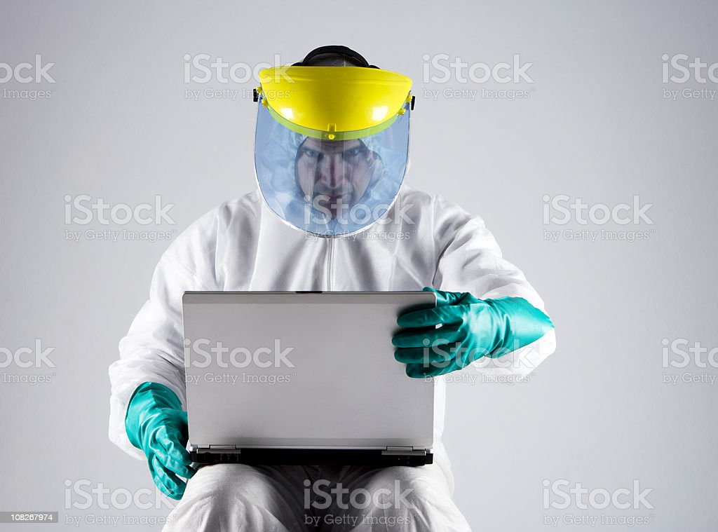 Laptop Virus Protection royalty-free stock photo