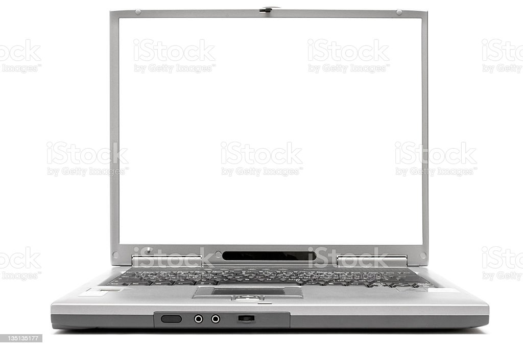 Laptop w/ Empty Space royalty-free stock photo