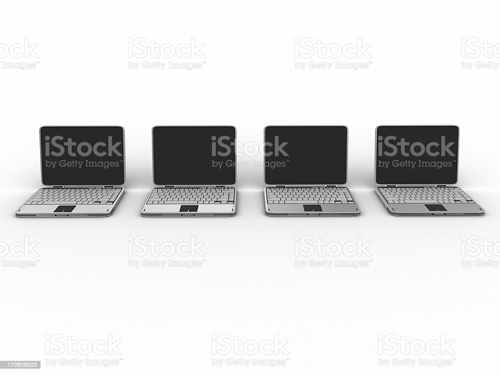Laptop with clipping path 03 royalty-free stock photo