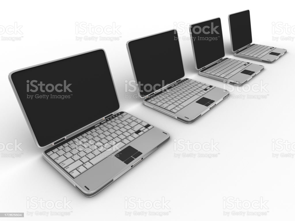 Laptop with clipping path 04 royalty-free stock photo