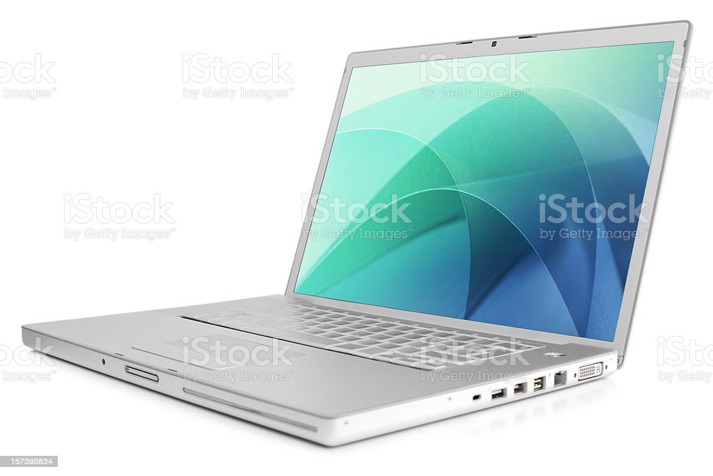 Laptop with clipping path stock photo