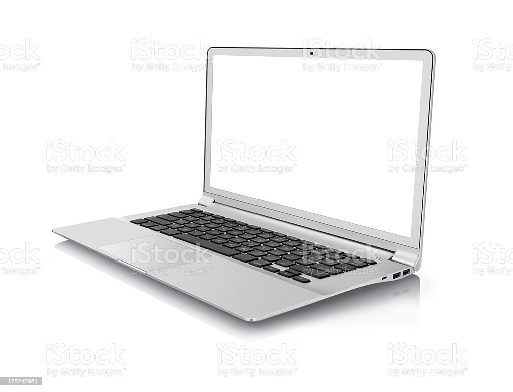 Laptop with clipping path royalty-free stock photo
