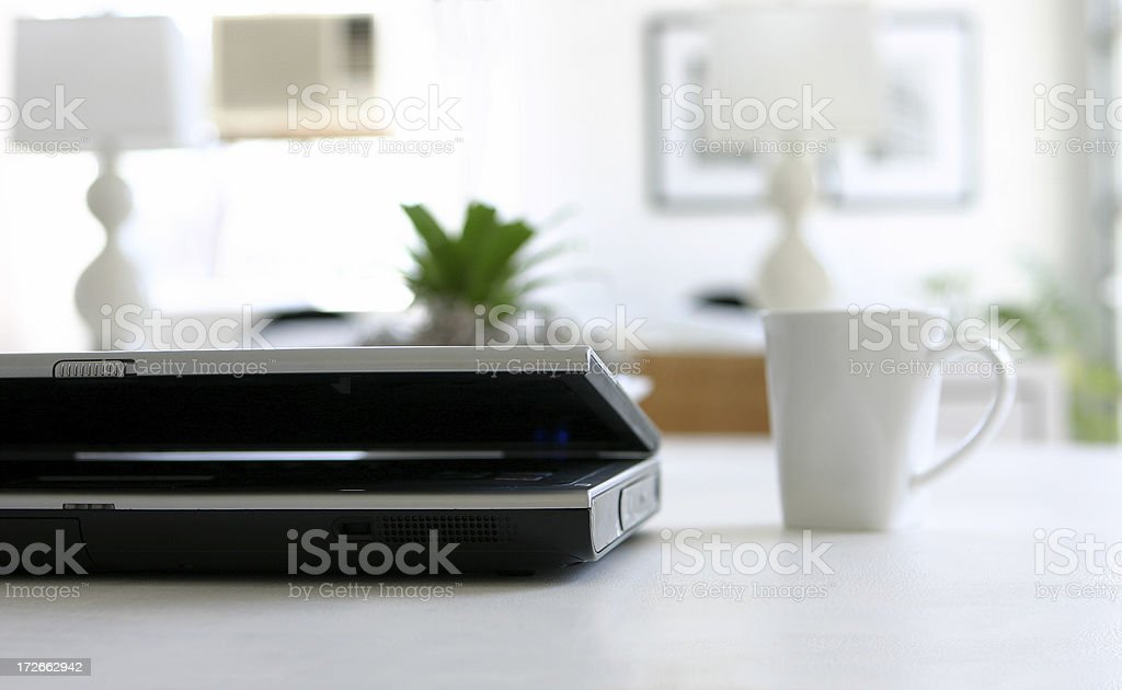 Laptop with Coffee Cup royalty-free stock photo