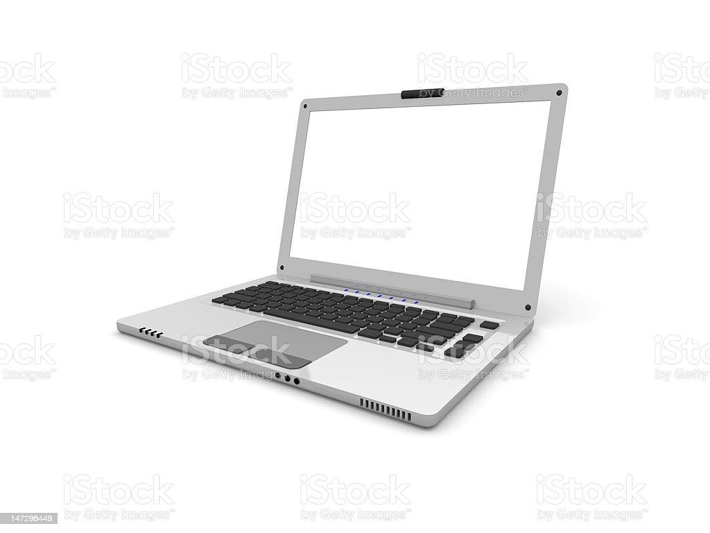 Ordenador portátil con pantalla de vacío foto de stock libre de derechos