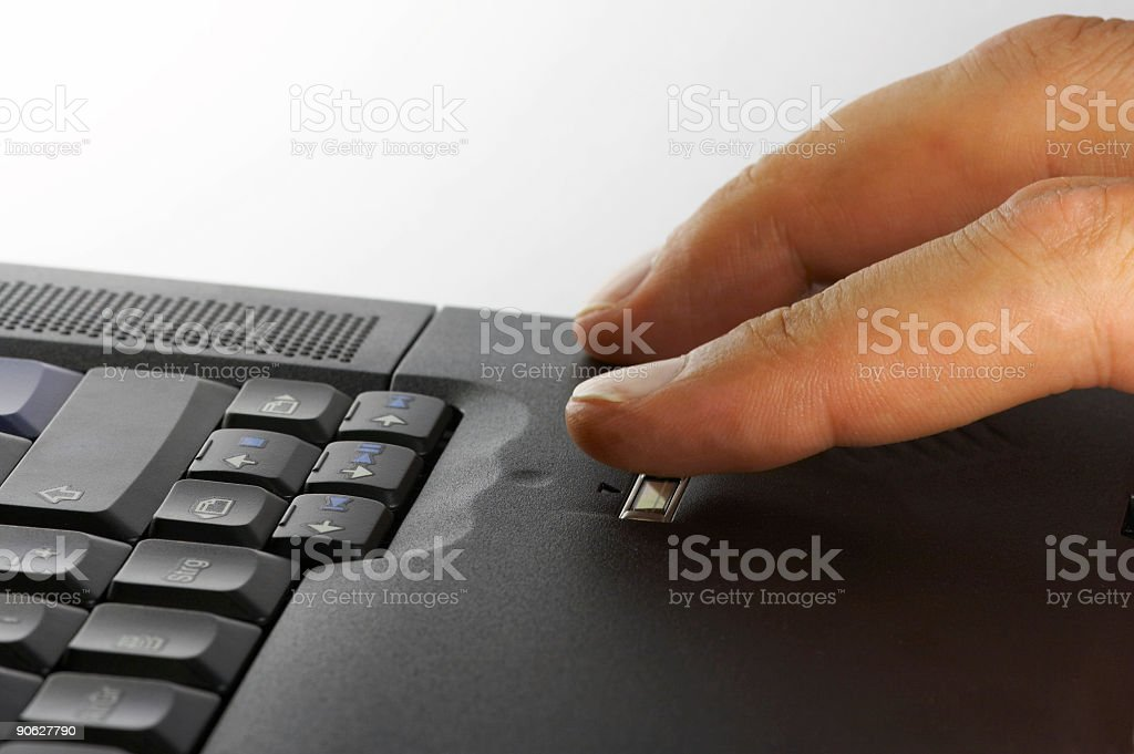 laptop with finger-print security 05 royalty-free stock photo