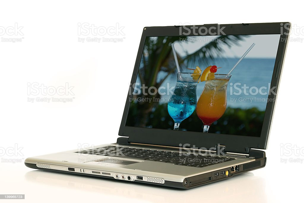 laptop with picture and clipping path royalty-free stock photo