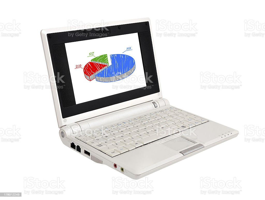 laptop with scheme stock photo