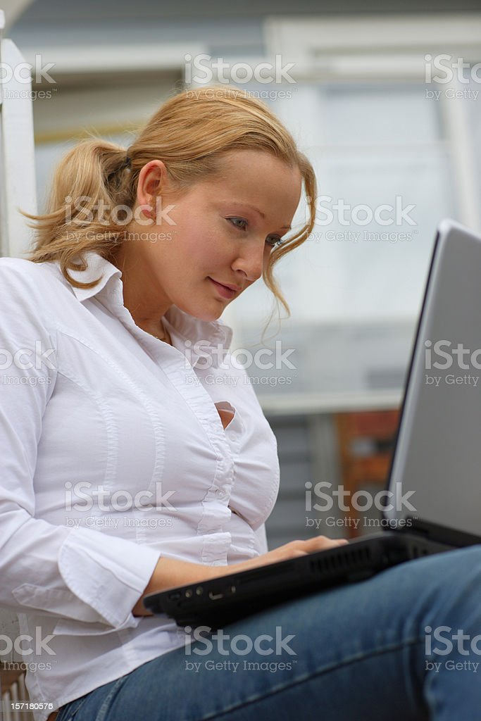 Laptop work royalty-free stock photo