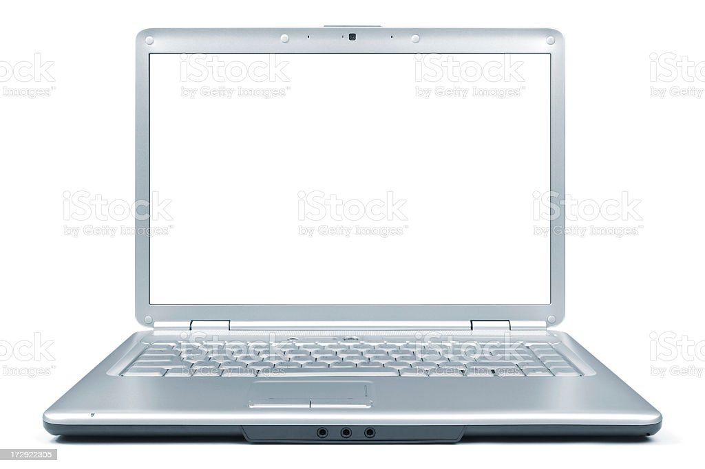 Laptop XXL + Clipping Path royalty-free stock photo
