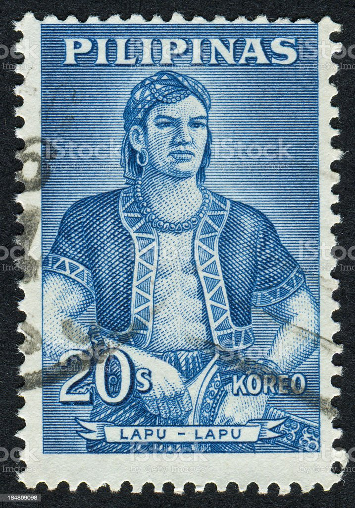 Lapu-Lapu Stamp royalty-free stock photo