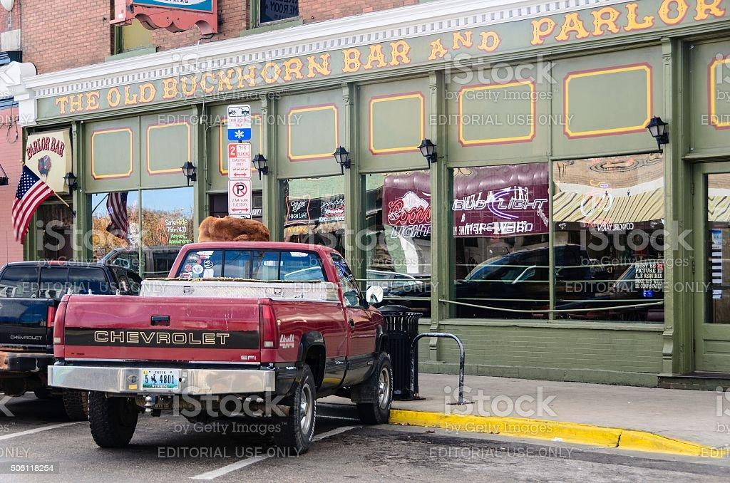 Laramie, Wyoming Street Scene stock photo