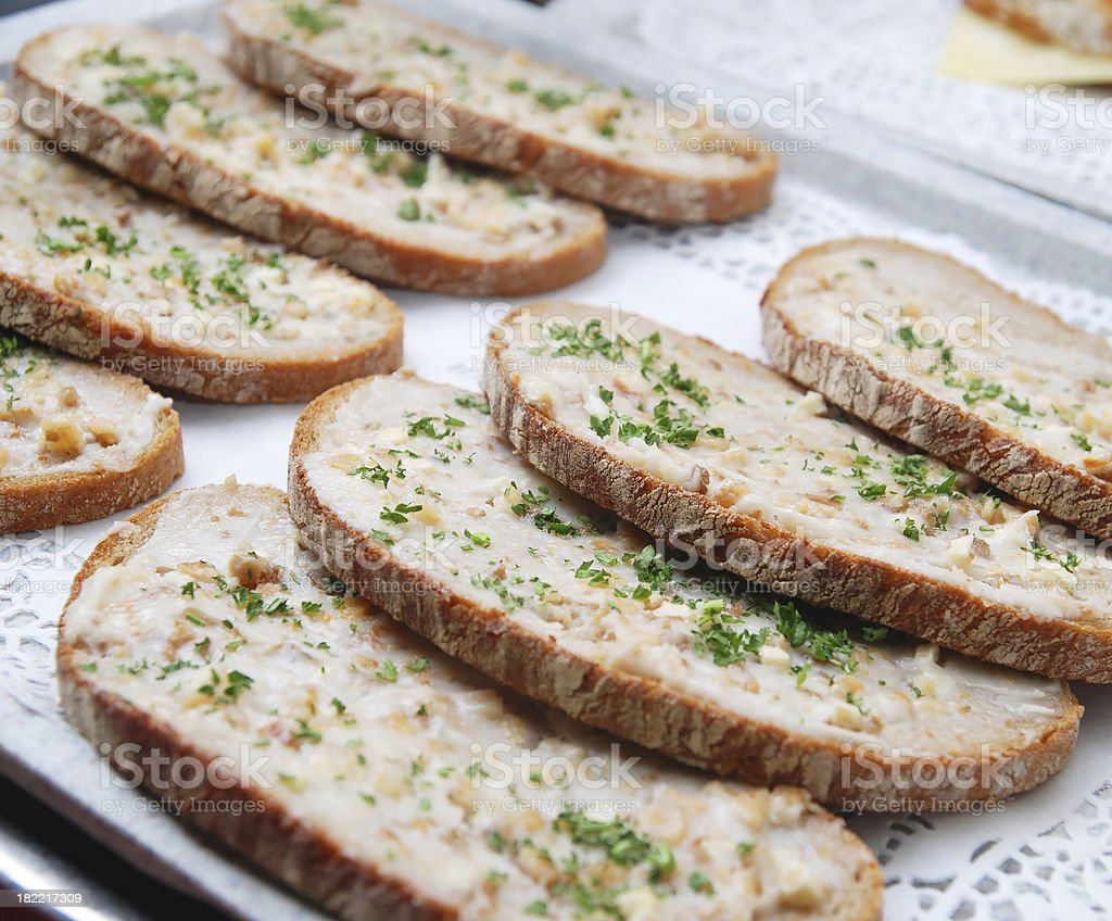 lard bread - Schmalzbrot royalty-free stock photo