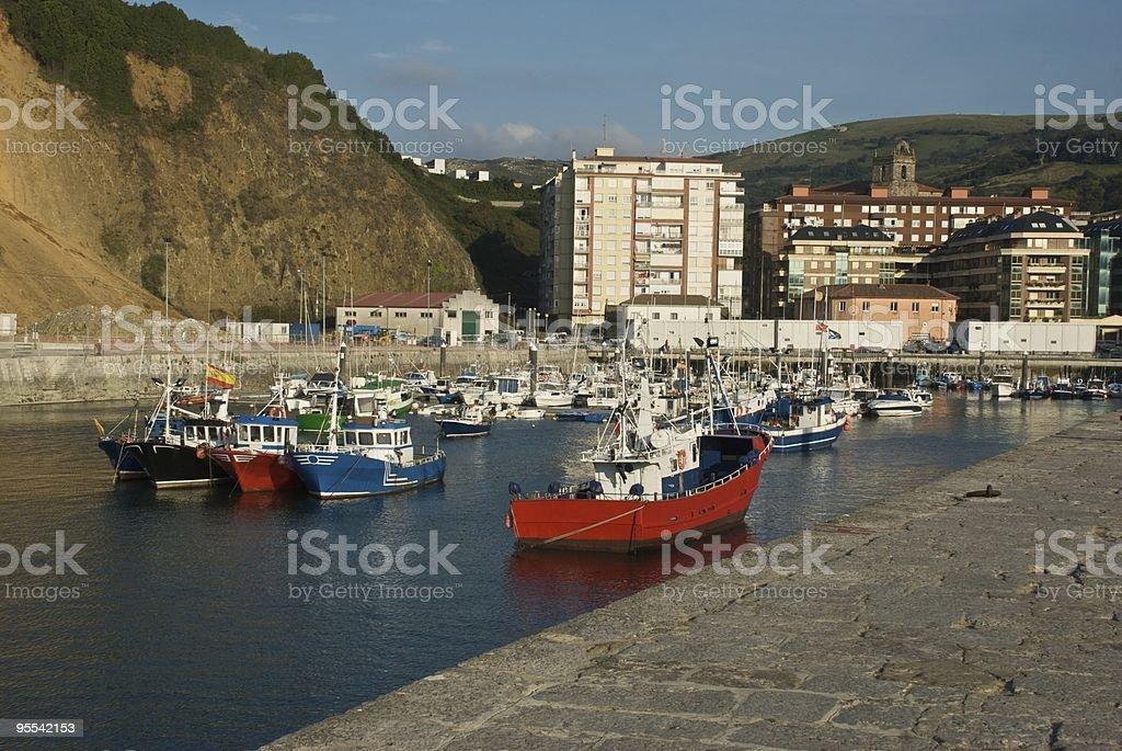 Laredo Harbor (Cantabria - Spain) stock photo