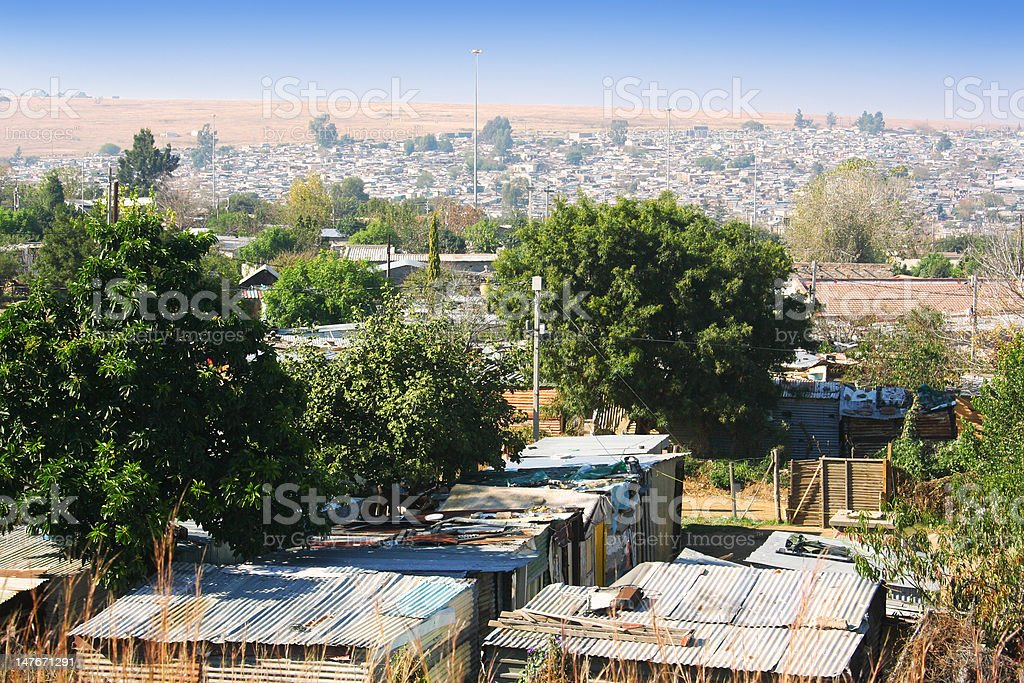 Large african township royalty-free stock photo