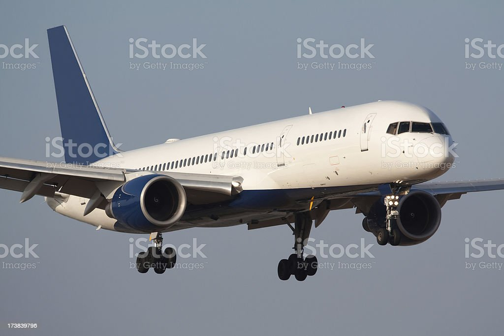 Large Airliner Landing stock photo